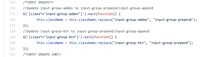 Bootstrap Shim Input Groups